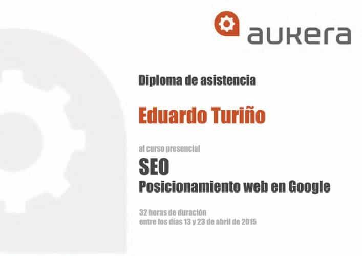 Experto en Posicionamiento Web (SEO) en Bilbao. Certificado Aukera.