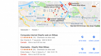 Reseñas en Google MyBusiness (Conquista Internet)