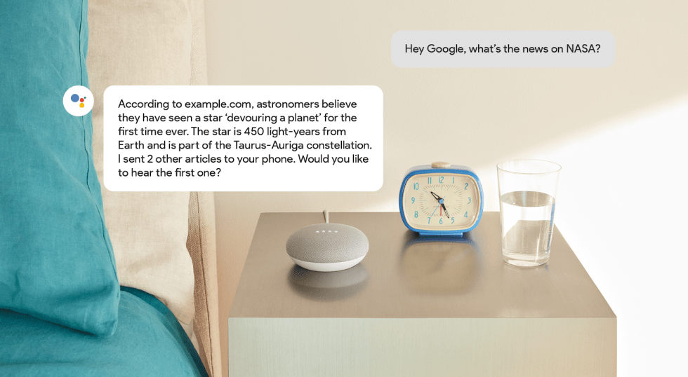 Asisente de Google Speakable