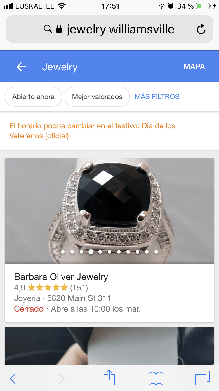 Slider en Google Local Pack