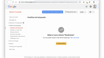 Analítica de Búsqueda Antigua Interfaz Search Console