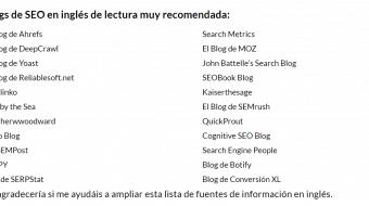 Blogs de SEO en Inglés de Lectura muy Recomendada
