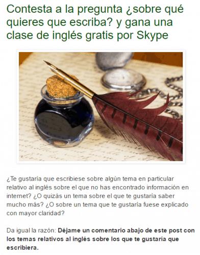 Encuesta en El Blog del Inglés