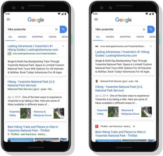 Rediseño Google en Móviles