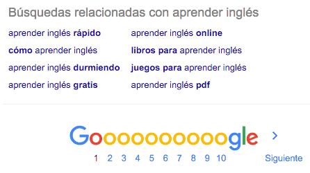Sugerencias de Búsqueda en Google